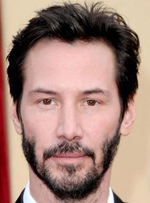 uneven beard