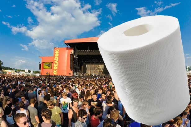 loo roll at a festival
