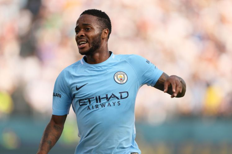 NASHVILLE, TN - JULY 29: Raheem Sterling of Manchester City during the International Champions Cup 2017 match between Manchester City and Tottenham Hotspur at Nissan Stadium on July 29, 2017 in Nashville, Tennessee. (Photo by Matthew Ashton - AMA/Getty Images)