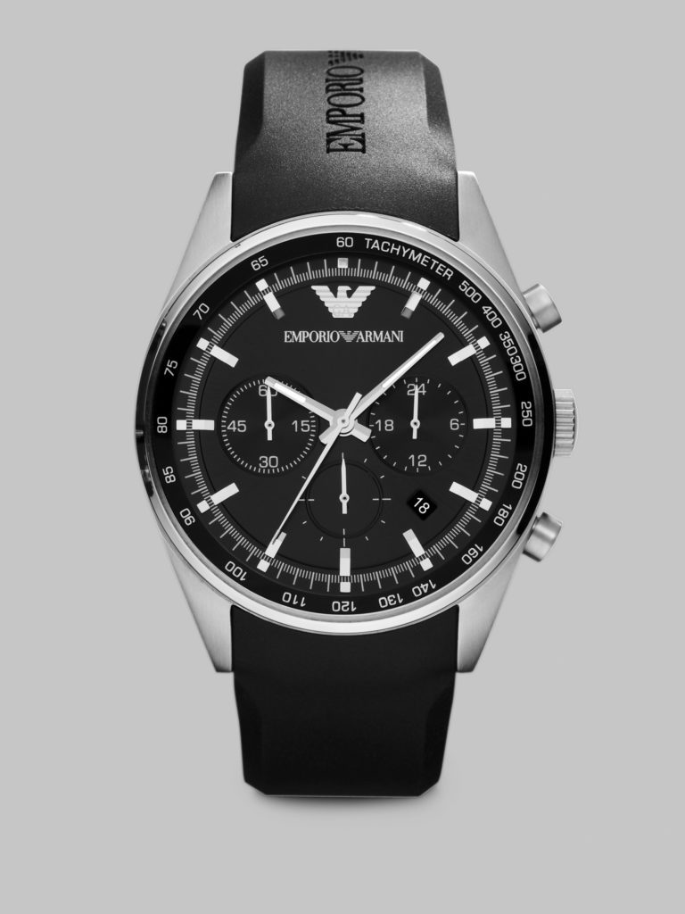 Emporio Armani Black stainless steel